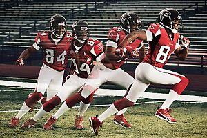 Roddy White Lot of (4) Unsigned 8x10's Atlanta Falcons