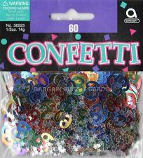 3 Pack 60 Cumpleaños Confeti / Cuadro De Zarzamora Multi Colores Mesa Decoraciones