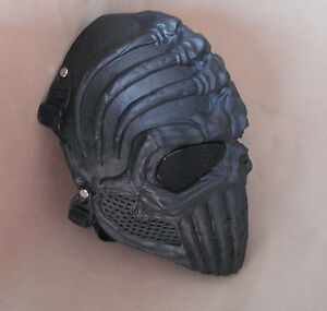 Black Paintball Airsoft Full Face Wire Mesh Eyes Protection Skull Mask FDN16