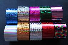 Transfer nail foils ALL 10 pcs 20 cm each