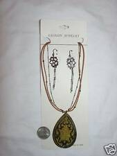 4 Necklaces LARGE Pendants Matching Earrings Sets NEW