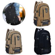 Men Vintage Canvas Backpack Rucksack Travel Sport Schoolbag Laptop Camping Bag