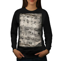 Wellcoda Music Key Notes Womens Sweatshirt, Old Casual Pullover Jumper