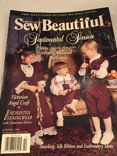 Sew Beautiful Magazine Martha Pullen Issue Holiday 1996 Patterns Included