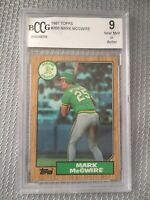 🔥🔥🔥1987 Topps Mark McGwire Rookie Card #366⚾️⚾️BCCG 9- PSA BGS 9 Quality RC