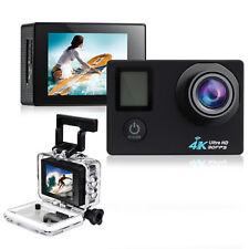 Waterproof 4K Ultra HD Wifi 1080 Dual Screen 30M Sport Action Camera+Remote