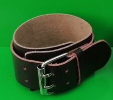 Leather Buckle Wrist band / cuff - Large + Goth / Rock / Festival.