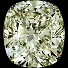 1.50ct (vvs1)7.26mmOFF WHITE YELLOW LOOSE CUSHION REAL MOISSANITE 4 RING/PENDANT