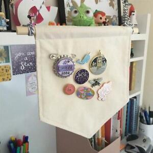 Pin Display Pennant Bann Canva Wall Banner Badge Storage Home Hanging DecoratiZY