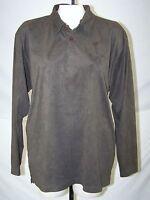 Geoffrey Beene Green Long Sleeve Polyester Shirt Mens Size Medium