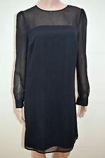 New Next Tailored Mesh Long Sleeve Beaded Neck Shift Dress Sz UK 6-8