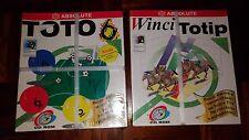 """Lotto 2 Software """"TOTO 6"""" e """"VINCI TOTIP"""" per pc Windows 95/3.1 x - Absolute"""