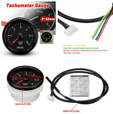 52mm White LED 0-6000 RPM Electrical Tachometer Gauge For Diesel Motor Engine