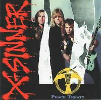 X-SINNER - PEACE TREATY (1991) CD =RARE= Jewel Case+FREE GIFT Greg Bishop