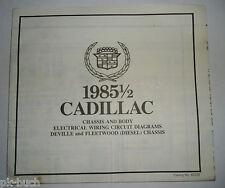 Elektrischer Schaltplan / Wiring Diagram Cadillac DeVille Fleetwood Diesel 1985