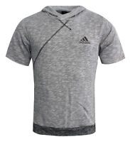 Adidas Cross Up Short Sleeve Hoodie Hoody Grey Jumper T-Shirt Tee Top BP7266 P5F