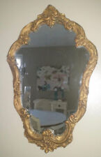 Mirrors Cheap Price Antique Vintage Oval Beveled Mirror With Barbola Flower Top & Easel Back