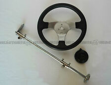 Circle Steering wheel and Column setup (complete) - Custom go kart buggy