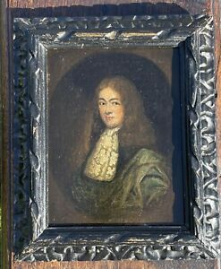Small Antique 17th Century Oil Portrait Painting From The Estate Of Lord Kenyan