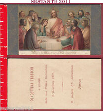 2715 SANTINO HOLY CARD ULTIMA CENA EUCARESTIA COMUNIONE FIRENZE D.S.R. 3174