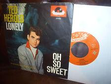 """Ted Herold, Lonely, Oh So Sweet, german Rock'n'Roll, polydor 24442, 7"""" 1961"""