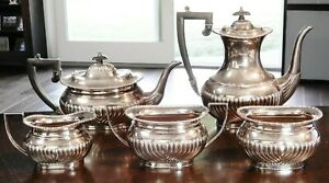 Vintage 5 Pc. KENTSHIRE English Silver Plate Tea Set SHEFFIELD, ENGLAND BEST!