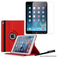 Housse Etui Rouge pour Apple iPad 9.7 2017/2018 + Vitre de protection