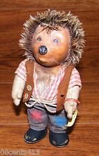 """Vintage 7"""" Steiff Mecki Hedgehog With Armband & Tag - Made In Germany"""