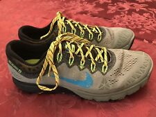 NIKE AIR Zoom Kiger 2 Lightweight Trail Running Shoes Gray/Multi Men's Size 10