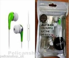EARPHONES & IN LINE MICROPHONE QUALITY JELLY EARBUDS HEADPHONES  4 IPHONE