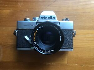 Minolta SRT 101 35mm SLR Film Camera With Lens TESTED AND WORKING