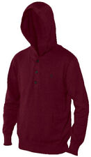 Nixon Watches Nooner Pullover Men's Hood Sweatshirt Bordeaux Maroon Large L