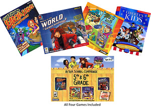 After School Clubhouse 5th-6th Grade 4 PC Game Bundle