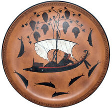 Dionysus Dionysos Cup Plate Sailing by Exekias Greek Museum Replica Reproduction