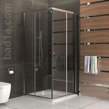 Viereck Duschkabine 90x90 ESG Eckeinstieg Dusche mit Glasveredelung ALPENBERGER