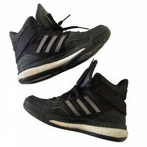 Adidas Vibe Energy Boost Womens Basketball Style Trainers Shoe UK 4 Black Silver