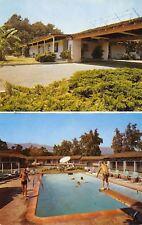 Santa Barbara California~Silver Saddle Motel~Coast Highway~US 101~1960s Postcard