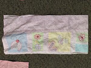 Kidsline Mirabella ValanceGirl Lady Bug Butterfly Flowers Pink Purple window
