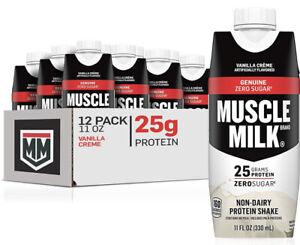 Muscle Milk Genuine Non-Dairy Protein Shake Vanilla Crème (11 fl. oz 12 pk.)✔️✔️