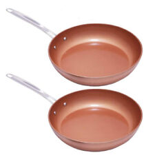 "2 Piece Duralon™ Stainless Steel Fry Pan Set (9"" & 10.5"")"
