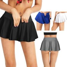 Womens Lady Stretchy Pleated Mini Dress School Uniform Gym Running Tennis Skirts