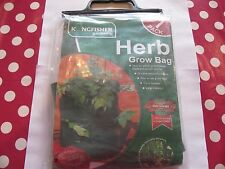 Herb Grow Bag by Kingfisher Ideal for Patios, Conservatories, Greenhouses, Sheds