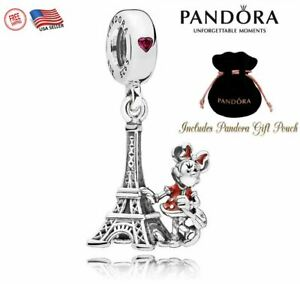 New Authentic S925 Pandora Disney Park Minnie Mouse Eiffel Tower Charm Bead