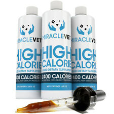 Miracle Vet Dog weight gainer supplement — 2,400 calories per bottle