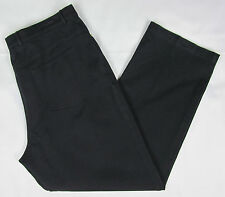 Womens ST. JOHN Straight leg jeans denim pants Black Size 18 P