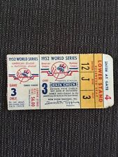 1952 World Series Ticket Brooklyn Dodgers Snider
