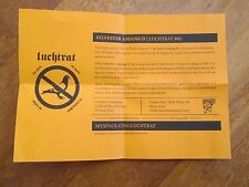 SYLVESTER ANFANG II FLYER INSERT LUCHTRAT RARE PSYCH ROCK IMPRO NO CD