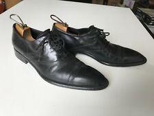 Doucal's Mens Cap Toe Lace Up Dress Shoes Size 41 Black Leather Made in Italy