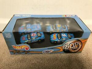 1999 Hot Wheels NASCAR Petty Racing 50th Anniversary 1/64 4 Car Walmart Set