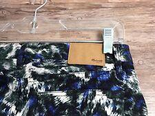 Women's Madewell Skinny Skinny Abstract Print Jeans sz 26x32 Blue White Green